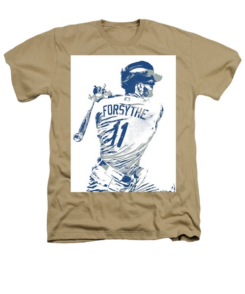 Logan Forsythe Los Angeles Dodgers Pixel Art 1 Heathers T-Shirt
