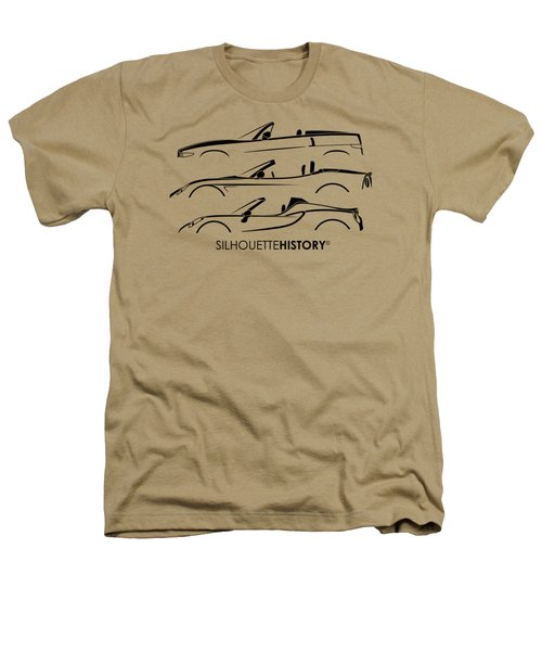 Lombard Roadster Silhouettehistory Heathers T-Shirt by Gabor Vida