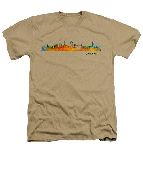 London City Skyline Hq V1 Heathers T-Shirt by HQ Photo
