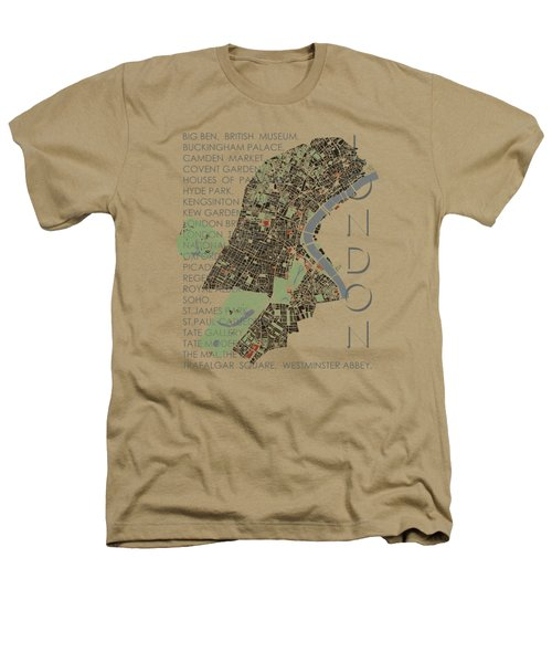 London Classic Map Heathers T-Shirt by Jasone Ayerbe- Javier R Recco