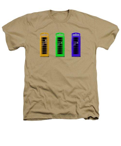 London Telephone Boxes Heathers T-Shirt by Mark Rogan