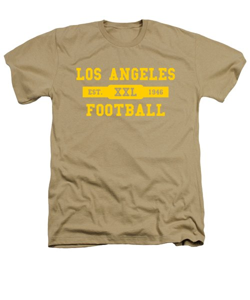 Los Angeles Rams Retro Shirt Heathers T-Shirt by Joe Hamilton
