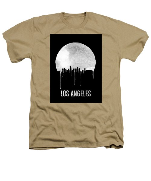 Los Angeles Skyline Black Heathers T-Shirt by Naxart Studio