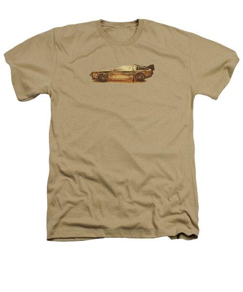 Lost In The Wild Wild West Golden Delorean Doubleexposure Art Heathers T-Shirt