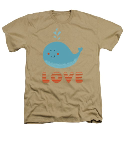 Love Whale Cute Animals Heathers T-Shirt by Edward Fielding
