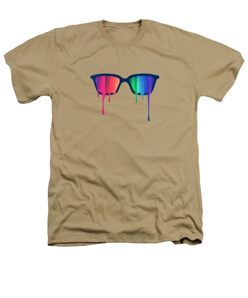 Love Wins Rainbow - Spectrum Pride Hipster Nerd Glasses Heathers T-Shirt by Philipp Rietz