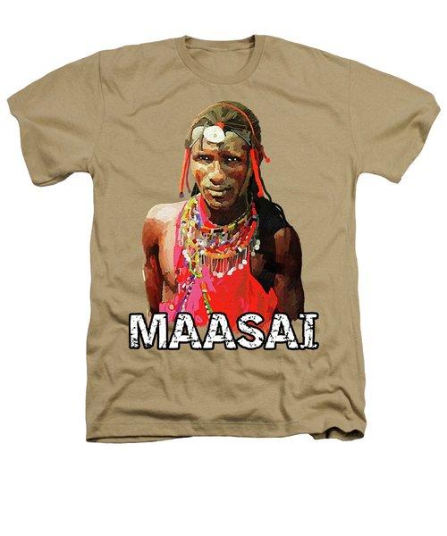 Maasai Moran Heathers T-Shirt by Anthony Mwangi