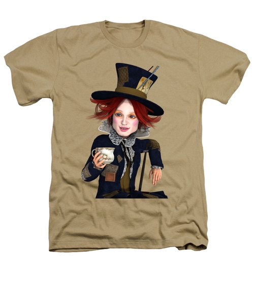 Mad Hatter Portrait Heathers T-Shirt by Methune Hively