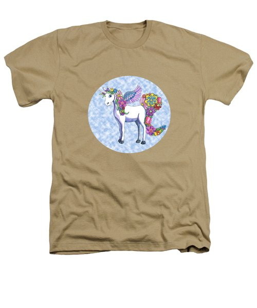 Madeline The Magic Unicorn 2 Heathers T-Shirt by Shelley Wallace Ylst
