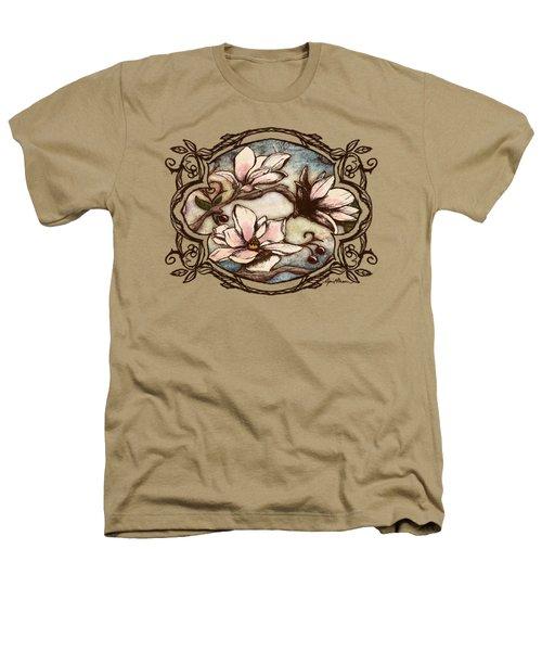 Magnolia Branch II Heathers T-Shirt by April Moen