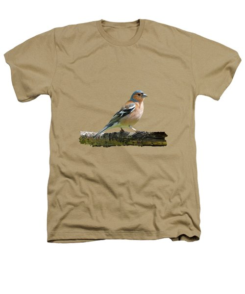 Male Chaffinch, Transparent Background Heathers T-Shirt by Paul Gulliver