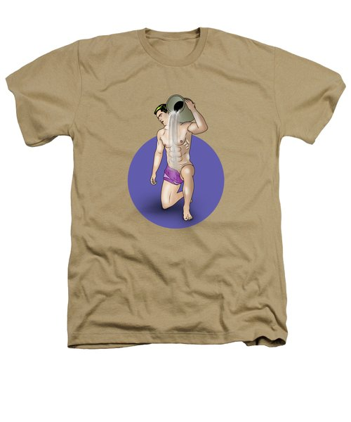 Male Nude Art Comics  Aquarius Heathers T-Shirt by Mark Ashkenazi
