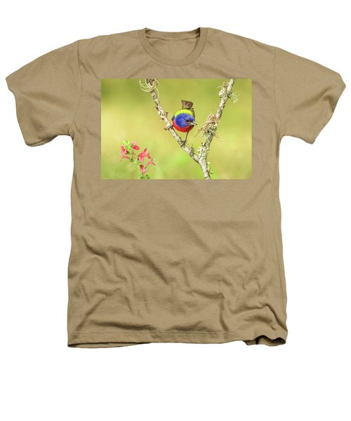 Male Painted Bunting #2 Heathers T-Shirt by Tom and Pat Cory