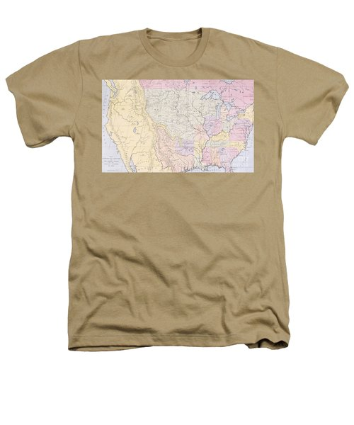 Map Showing The Localities Of The Indian Tribes Of The Us In 1833 Heathers T-Shirt by Thomas L McKenney and James Hall