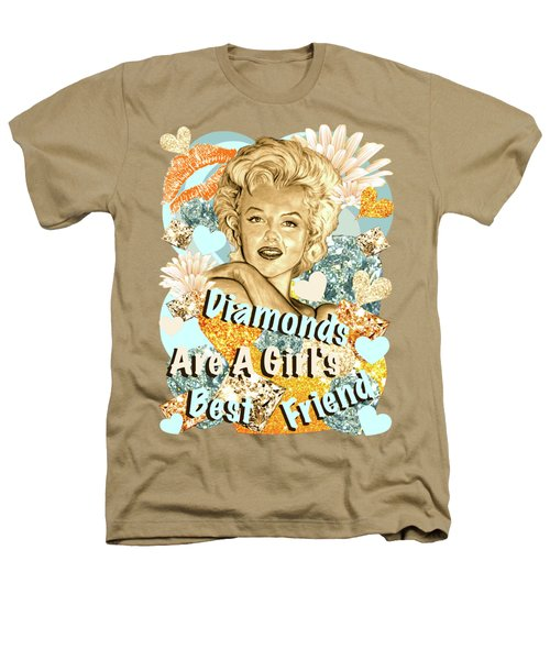 Marilyn Diamonds Are A Girls Best Friend Heathers T-Shirt by Gitta Glaeser
