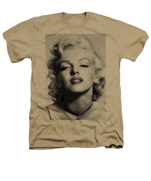 Marilyn Monroe - Bw Hexagons Heathers T-Shirt by Samuel Majcen