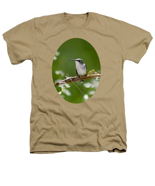 Meadow Hummingbird Heathers T-Shirt by Christina Rollo
