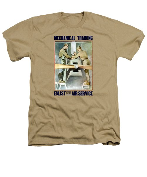 Mechanical Training - Enlist In The Air Service Heathers T-Shirt