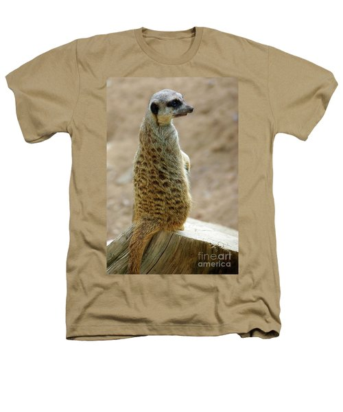 Meerkat Portrait Heathers T-Shirt by Carlos Caetano