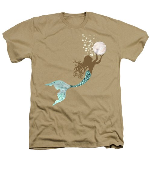 Mermaid Of Color Gathering Pearls Brown Siren Holds A Huge Pearl Heathers T-Shirt
