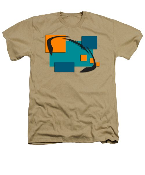 Miami Dolphins Abstract Shirt Heathers T-Shirt by Joe Hamilton