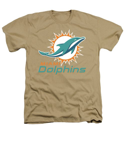 Miami Dolphins On An Abraded Steel Texture Heathers T-Shirt