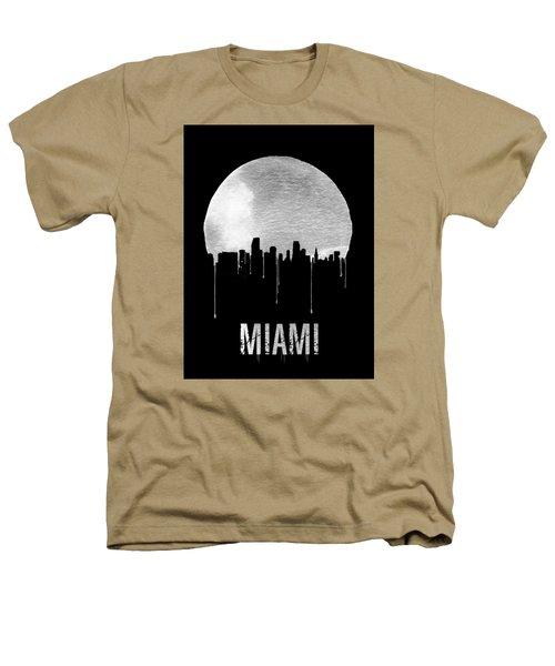 Miami Skyline Black Heathers T-Shirt by Naxart Studio