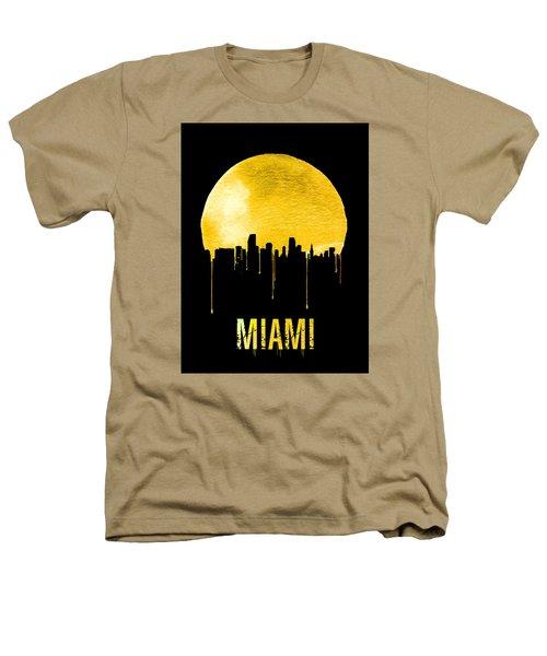 Miami Skyline Yellow Heathers T-Shirt by Naxart Studio