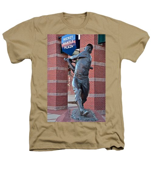 Mickey Mantle Plaza Heathers T-Shirt by Frozen in Time Fine Art Photography