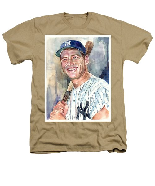 Mickey Mantle Portrait Heathers T-Shirt