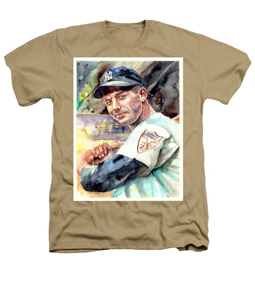 Mickey Mantle Watercolor Heathers T-Shirt