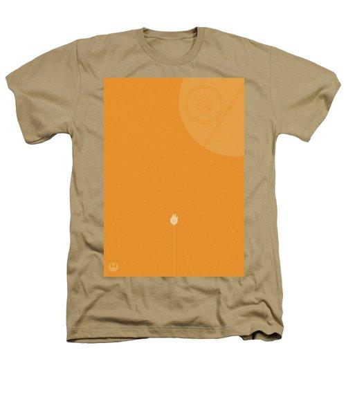 Millennium Falcon Meets Death Star Heathers T-Shirt