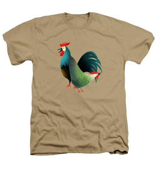 Morning Glory Rooster And Hen Wake Up Call Heathers T-Shirt