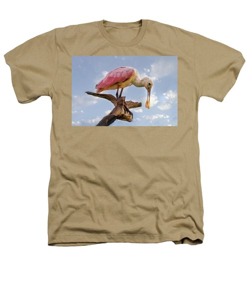 Morning Pinks In Blue Heathers T-Shirt