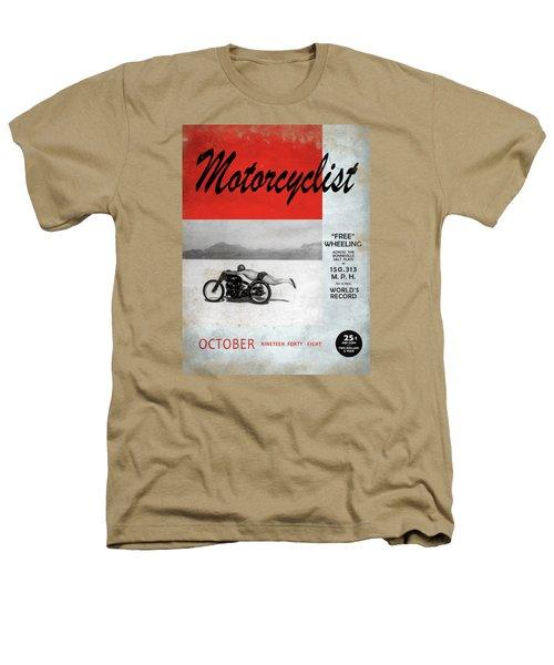 Motorcyclist Magazine - Rollie Free Heathers T-Shirt by Mark Rogan