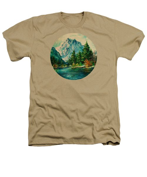 Mountain Lake Heathers T-Shirt by Mary Wolf