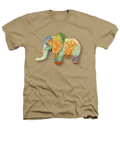Multicolor Elephant Heathers T-Shirt by Angeles M Pomata