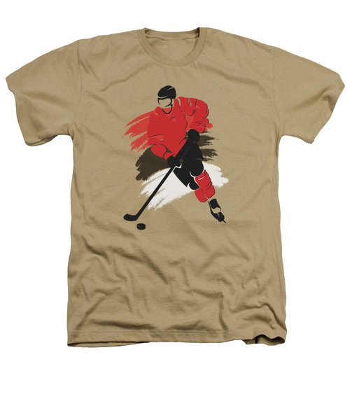 New Jersey Devils Player Shirt Heathers T-Shirt by Joe Hamilton