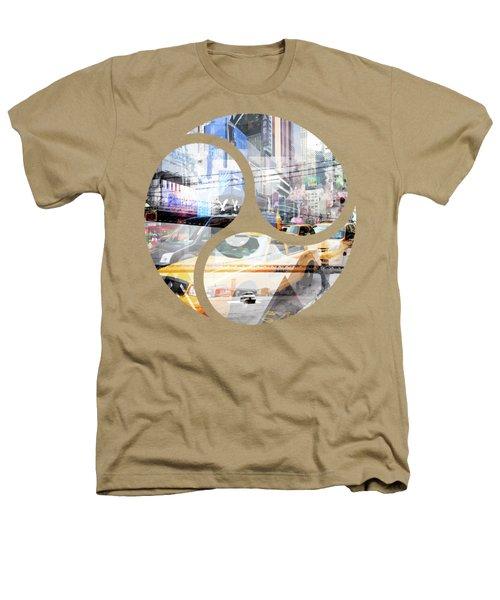 New York City Geometric Mix No. 9 Heathers T-Shirt by Melanie Viola