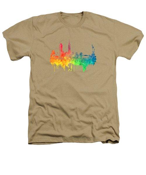 New York City Skyline Color Heathers T-Shirt