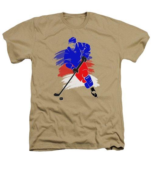 New York Rangers Player Shirt Heathers T-Shirt by Joe Hamilton
