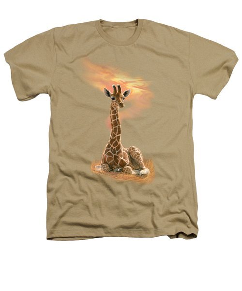 Newborn Giraffe Heathers T-Shirt