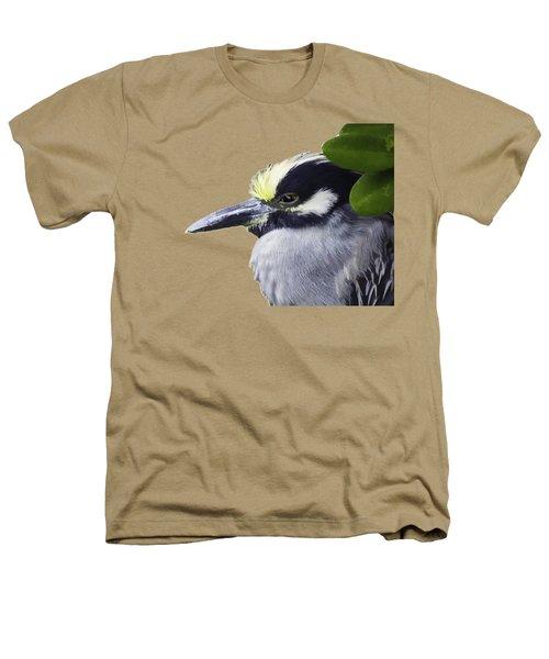 Night Heron Transparency Heathers T-Shirt by Richard Goldman