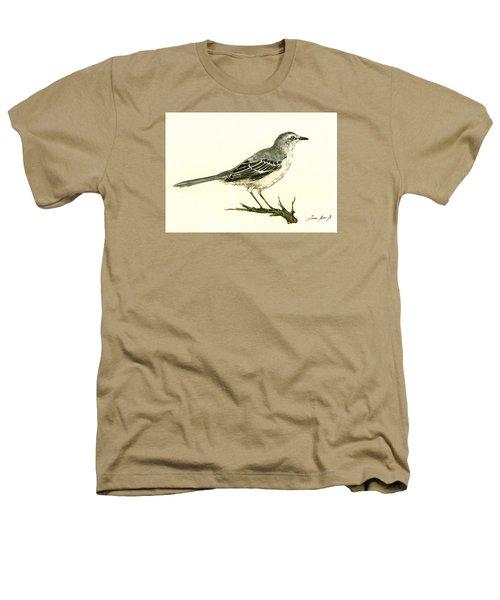 Northern Mockingbird Heathers T-Shirt by Juan  Bosco