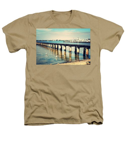 Old Fort Myers Pier With Ibises Heathers T-Shirt by Carol Groenen