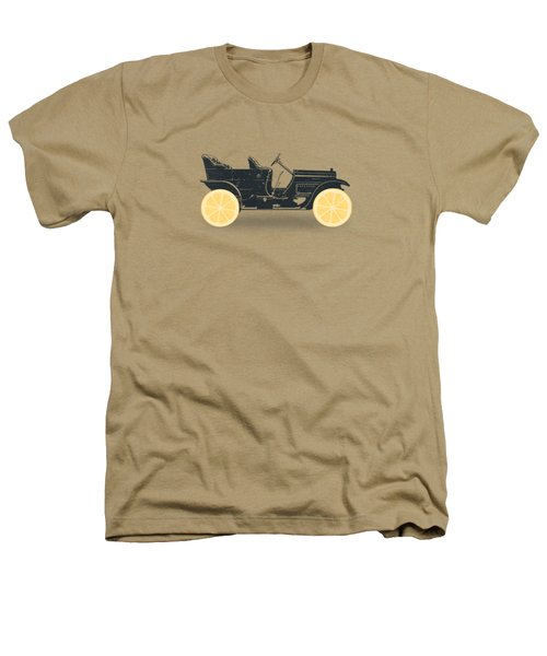 Oldtimer Historic Car With Lemon Wheels Heathers T-Shirt by Philipp Rietz
