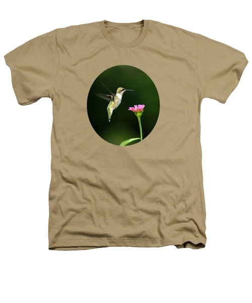 One Hummingbird Heathers T-Shirt by Christina Rollo