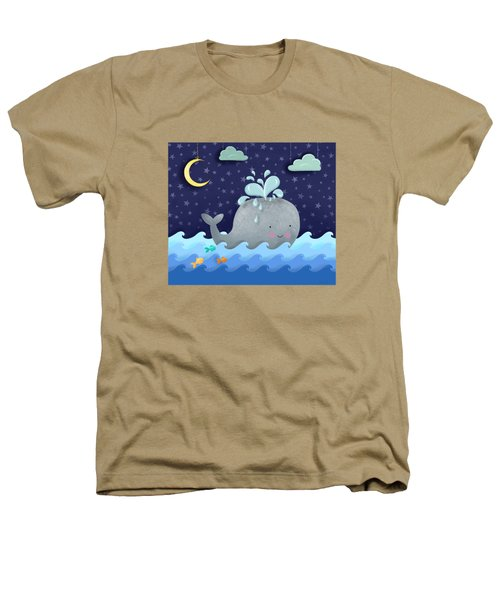 One Wonderful Whale With Fabulous Fishy Friends Heathers T-Shirt by Little Bunny Sunshine