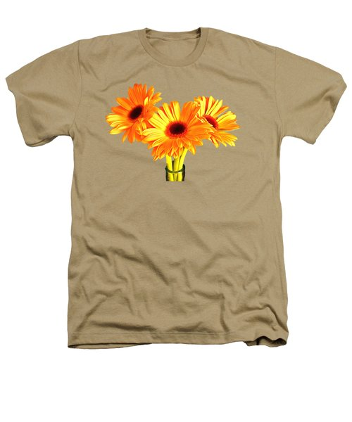 Orange Gerbera's Heathers T-Shirt by Scott Carruthers