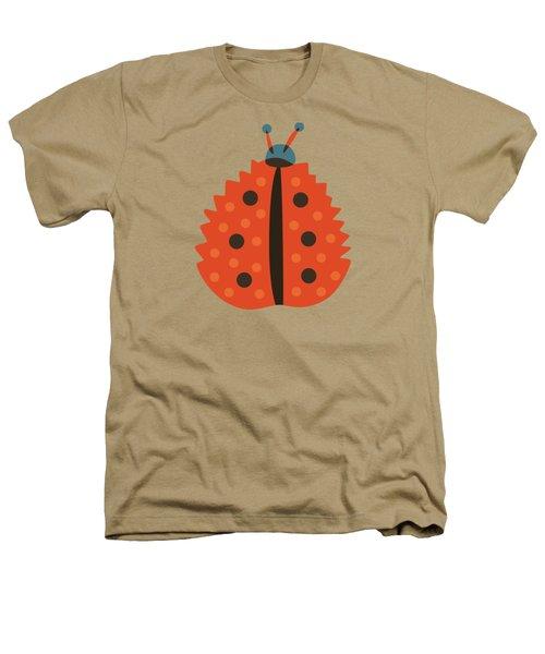Orange Ladybug Masked As Autumn Leaf Heathers T-Shirt